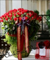 사랑합니다. 100송이 꽃바구니