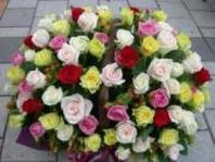사랑합니다.100송이꽃바구니
