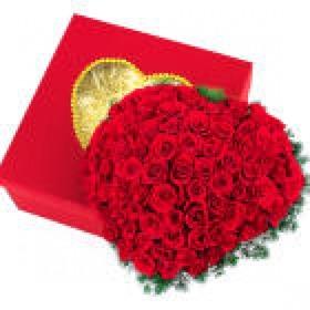 사랑합니다 100송이 꽃박스